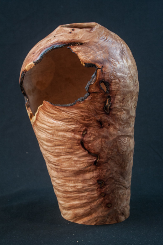 "113 Madrone Burl Distorted 9 x 5.5.......  $225  ........  Located at ""The Real Mother Goose"" in Portland Oregon.......SOLD"