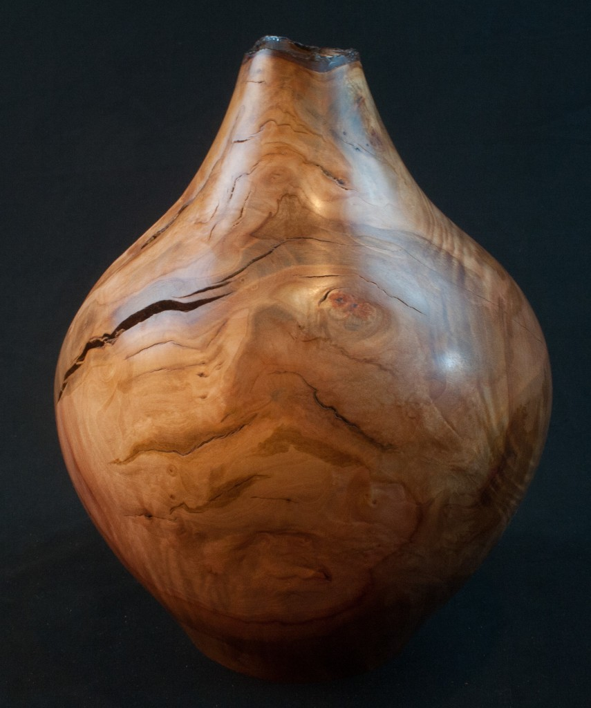 135 Madrone Burl Natural Edge Hollow form 9 x 11     ...... $695   ..............SOLD
