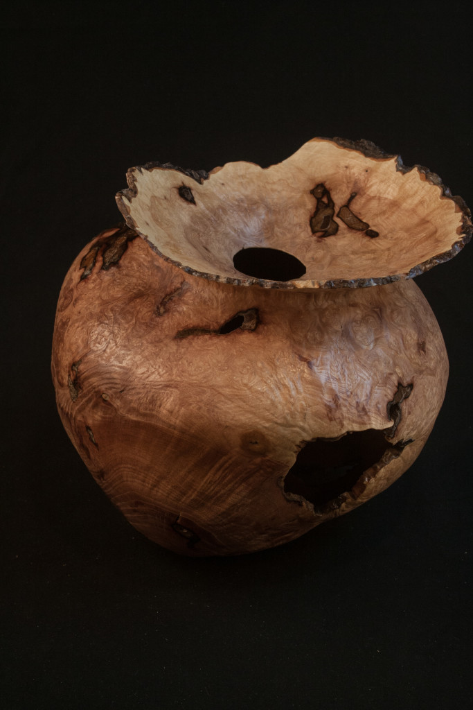 162 Madrone burl-hollow form distorted natural edge-8-x-9.......$750