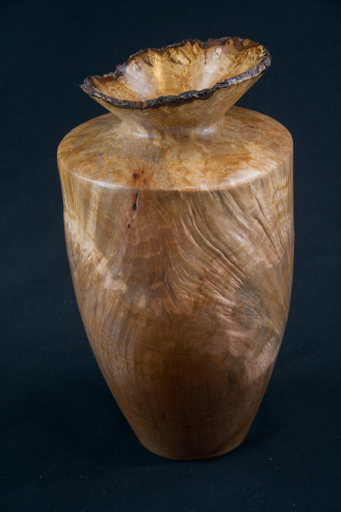 235 Madrone Burl Nat Edge Distorted Splated Hollow Form 5.5 x 9.5 ...........  $169  ...........        SOLD