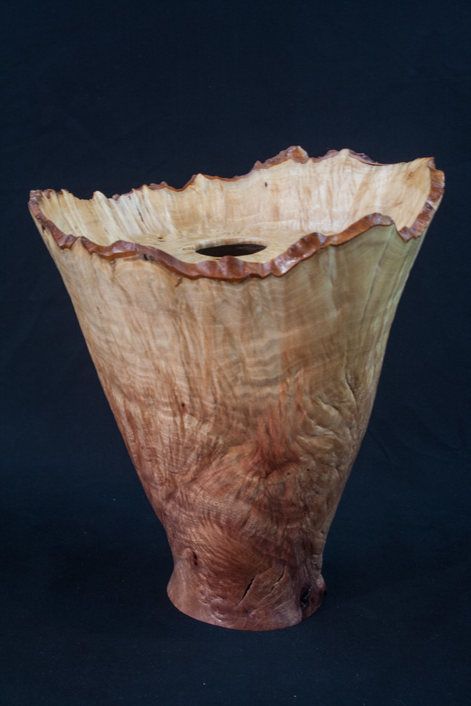 37 Madron Burl Natural Edge Distorted Hollow Form 9 x 10 ........... $550