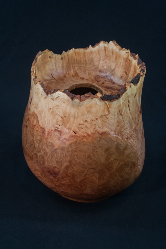 39B Madron Burl Natural Edge Distorted Hollow Form 7 X 9 .......... $475