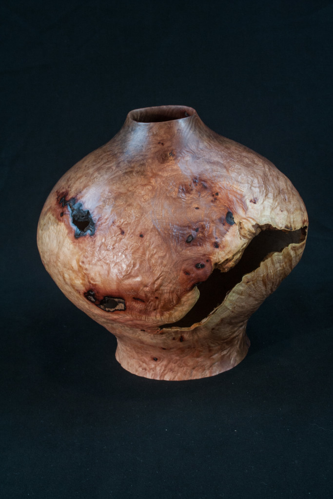 40A Madron Burl Natural Edge Distorted Hollow Form 9 x 9.........  $495