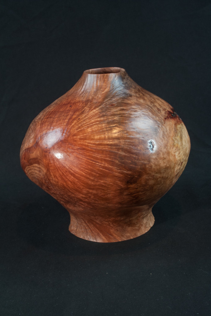 40B Madron Burl Natural Edge Distorted Hollow Form 9 x 9