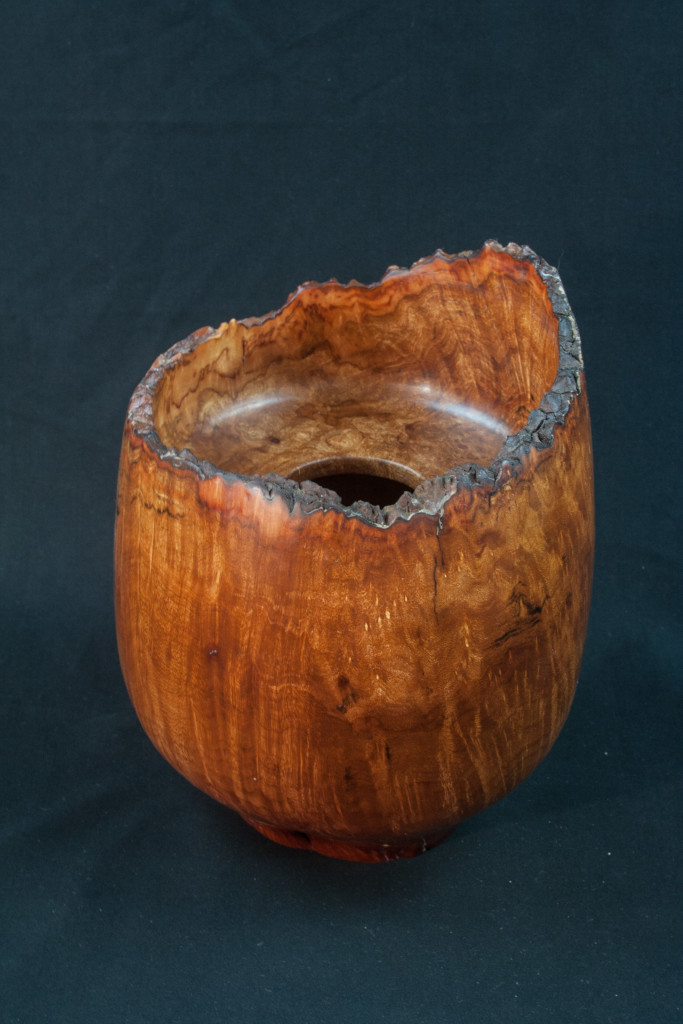 50B Madron Burl Natural Edge Hollow Form 6,5 x 9 ....... $395........SOLD