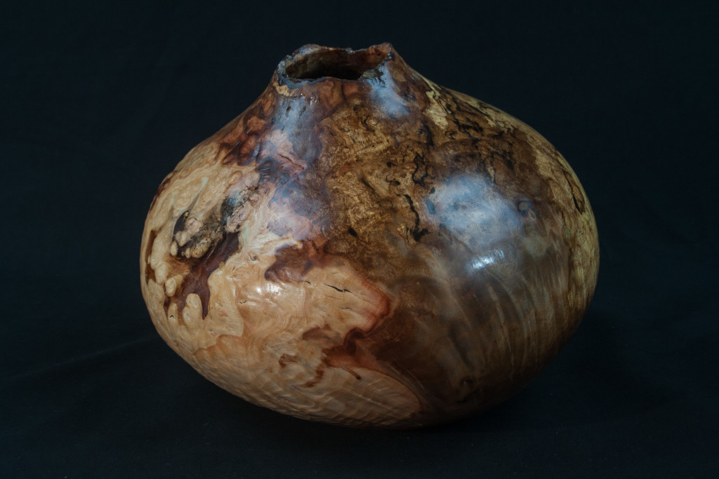 "52 Madron Burl Distorted Natural Edge Hollow Form 8 x 8  ........$495  ........   Located at ""The Real Mother Goose"" in Portland Oregon"