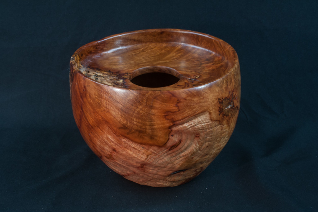 55B Madron Burl  Distorted Hollow Form 8,5 x 7.........  $415