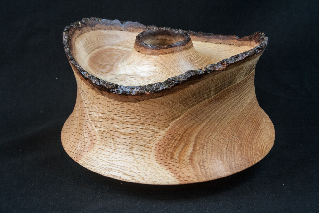 108 Red Oak Natural Edge Hollow Form 5 x 8 .............. $159