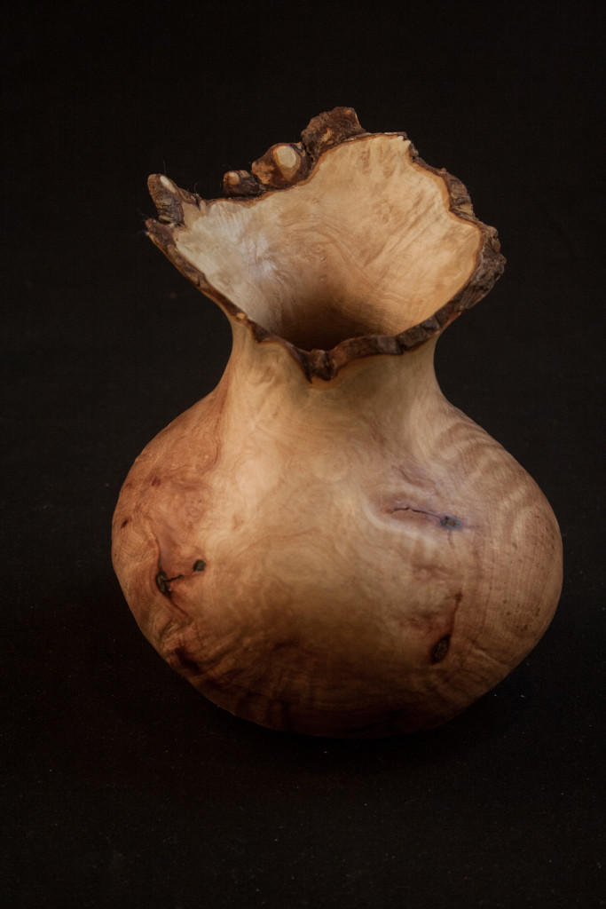 "167A-Madrone-butl-hollow-form-natural-edge-4.5-x-5.5........$77......Currently displayed at ""Dan McGeorge Gallery"" in Jacksonville Oregon  SOLD"