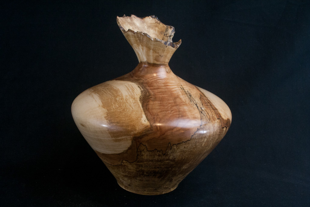 261 Maple Burl Splated Hollow Form 9 x 8......$415..... SOLD