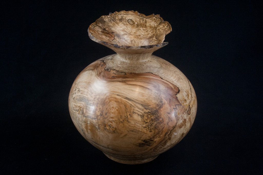 276 Maple Burl Hollow Form 7.5 X 8......$189......SOLD